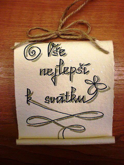 přání k svátku kamarádovi ZÁVĚSNÉ PERGAMENY / 3. Vše nejlepší k svátku   E shop BENE s.r.o. přání k svátku kamarádovi